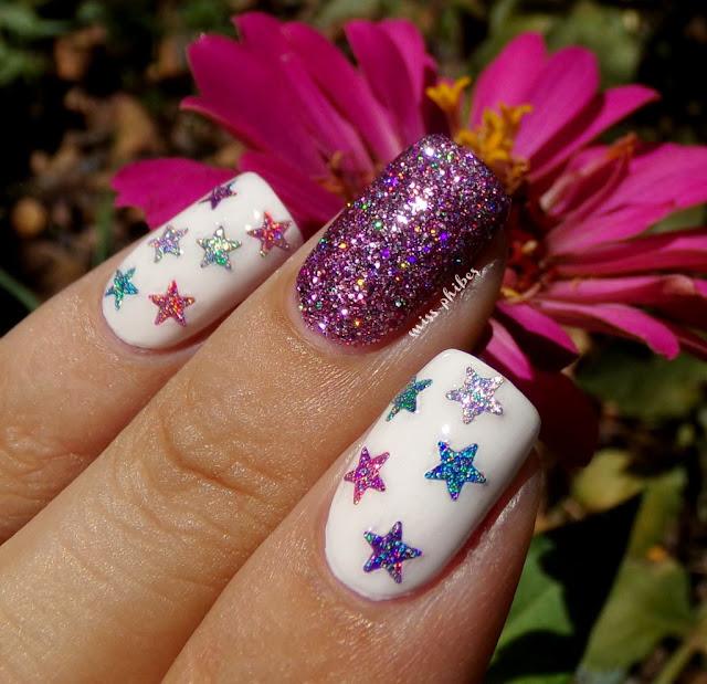 Nail art estrellas + stars nail art + yru jem boots