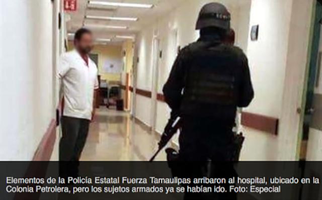 """SICARIOS del CDG """"TOMAN"""" HOSPITAL de PEMEX e INTERROGAN a MÉDICOS en REYNOSA"""