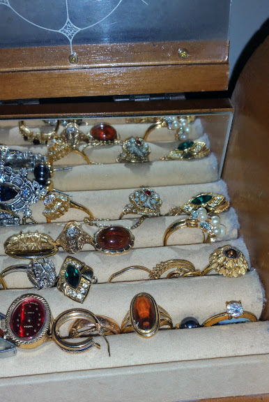 A Picture of Rings in a Jewelry Box