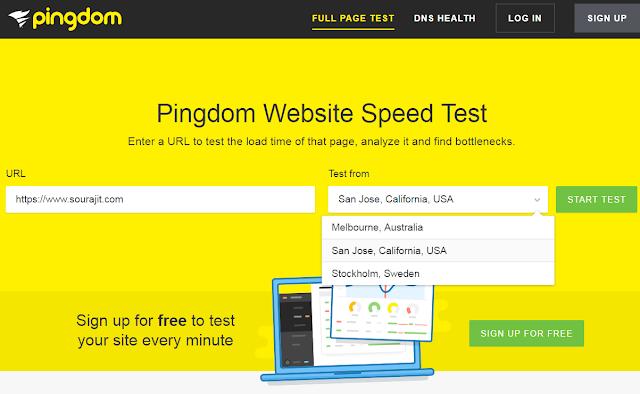 pingdom speed test 1