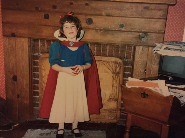 handmade Snow White Halloween costume