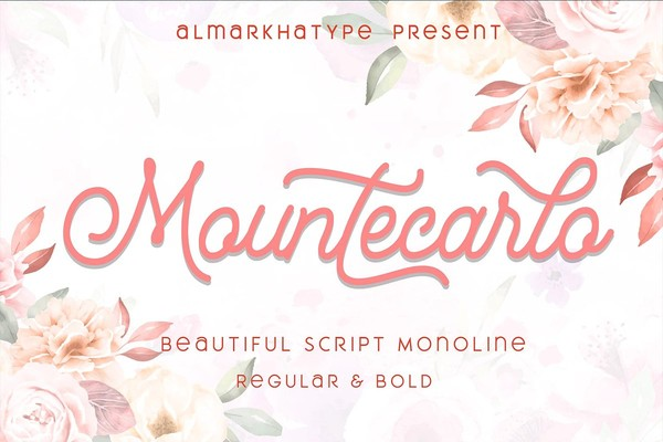 Mountecarlo Beautiful Monoline Font