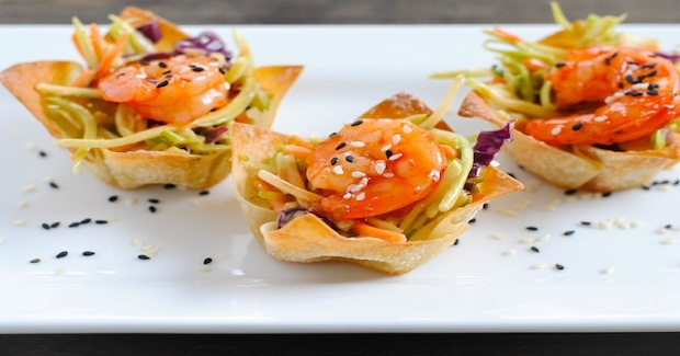 Asian Shrimp Wonton Cups Recipe