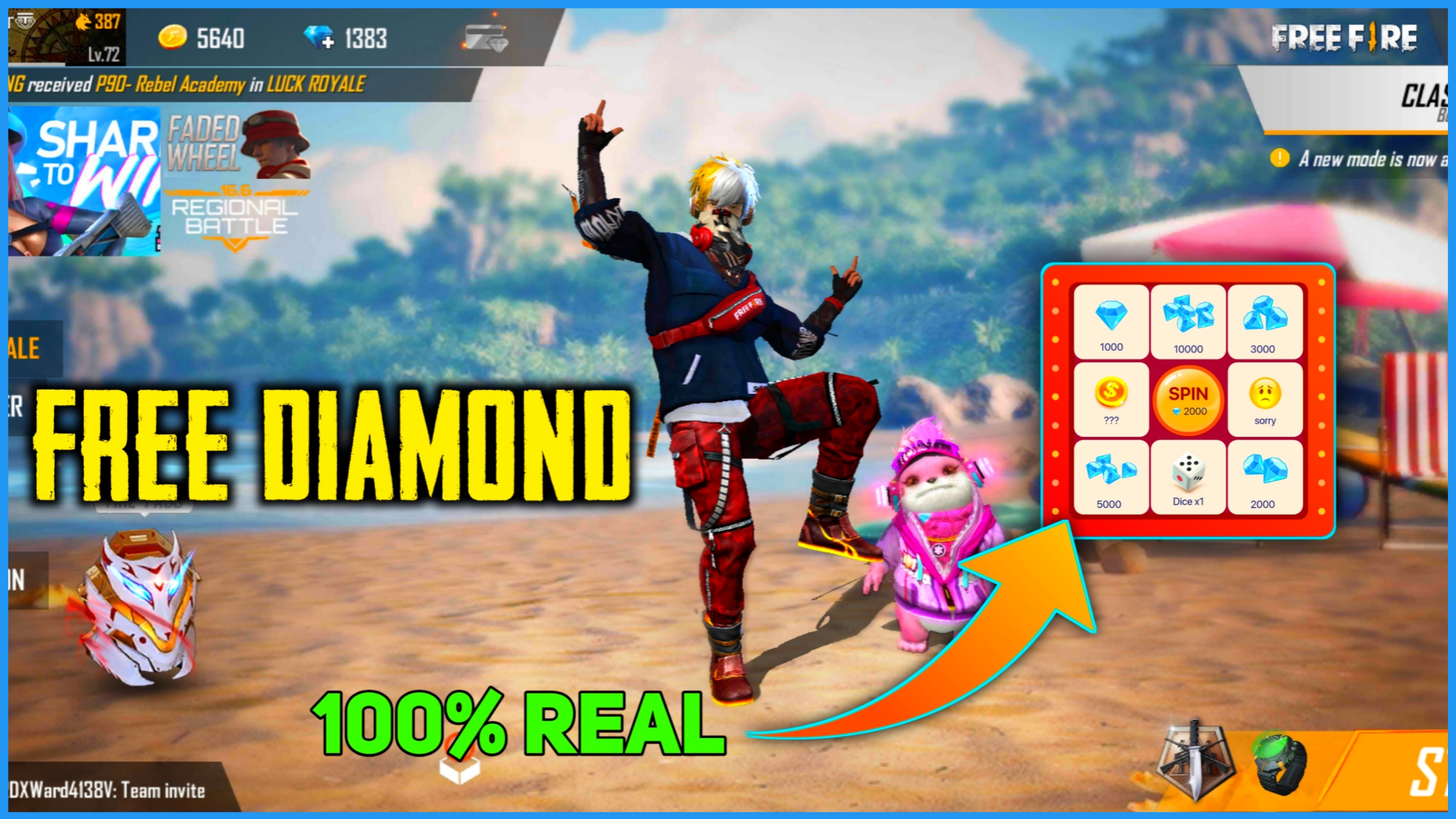 Free Fire Me Free Me Diamond Kese Le 2020 100 Real Trick How To Get Free Unlimted Diamond