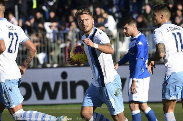 Italian League Results - Almost Detained by Brescia Draw, Immobile Becomes Lazio Hero