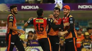 KKR vs SRH Qualifier 2 IPL 2018 Highlights