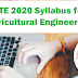 GATE 2020 Syllabus for Agricultural Engineering - Know Here