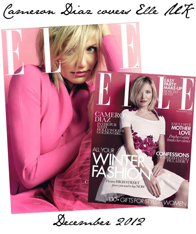 Cameron Diaz Elle UK Cover December 2012