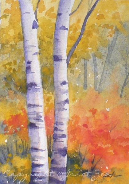 how to cut watercolor paper after painting