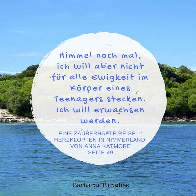 Eine zauberhafte Reise 1: Herzklopfen in Nimmerland von Anna Katmore - Zitat