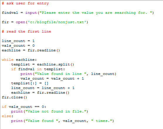 Python Advanced #12 - Searching for a value in a text file