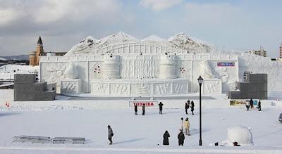 Giant Snow Sculpture