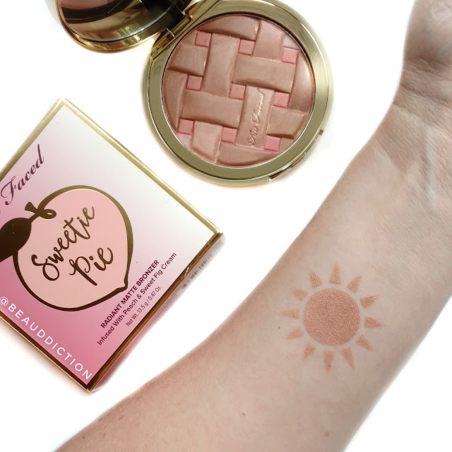 Too Faced Sweetie Pie Radiant Matte Bronzer Swatches