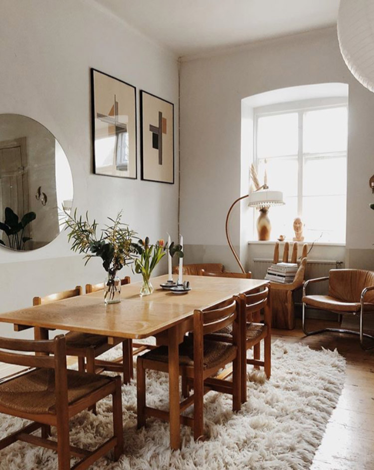 A Warm, Earthy, Vintage-inspired Swedish Home