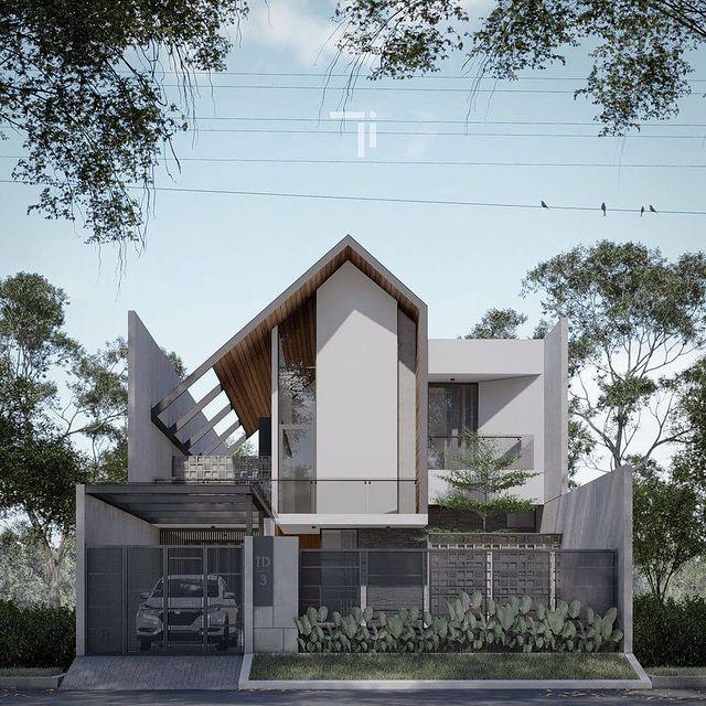 desain rumah minimalis dengan rooftop