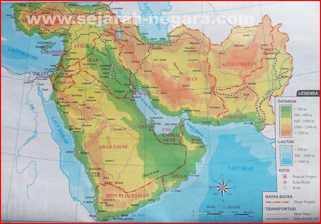 Peta Asia Barat