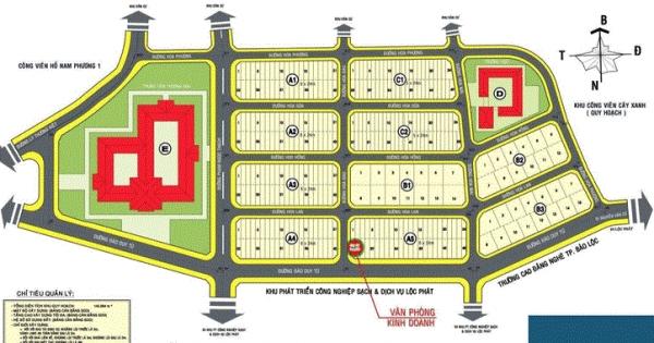 mặt bằng tổng thể dự án Nam Phương City , được phân chia 1 cách hợp lý