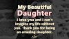 To My Beautiful Daughter!