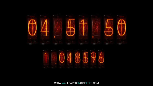 Download Nixie Clock (Divergence Meter) Wallpaper Engine