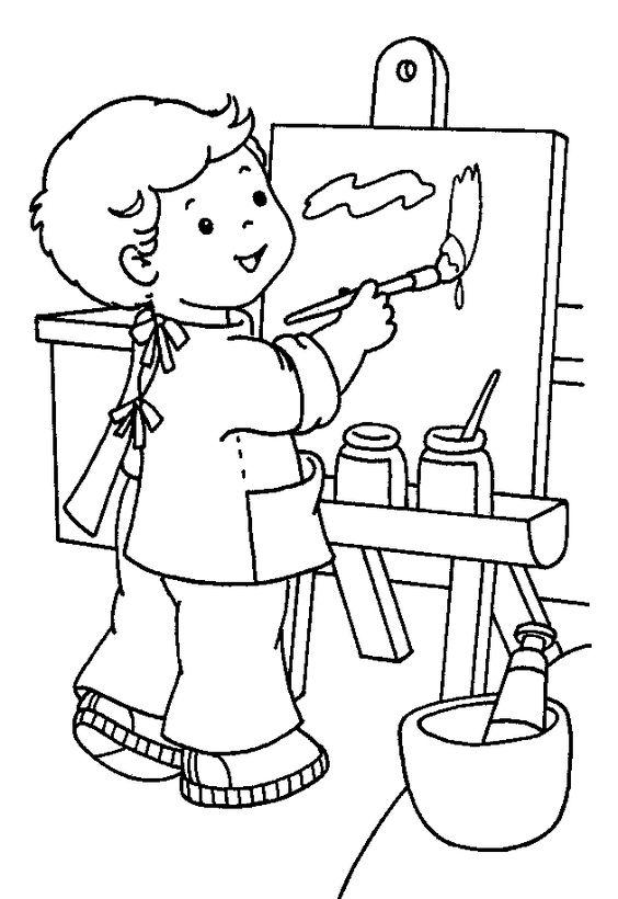 Tranh tô màu bé học vẽ tranh đẹp