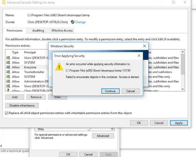 """Solved: """"Failed to Enumerate Objects in the Container"""" Windows ten Error"""