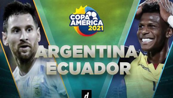 Argentina vs Ecuador: partido por cuartos de final de Copa América 2021