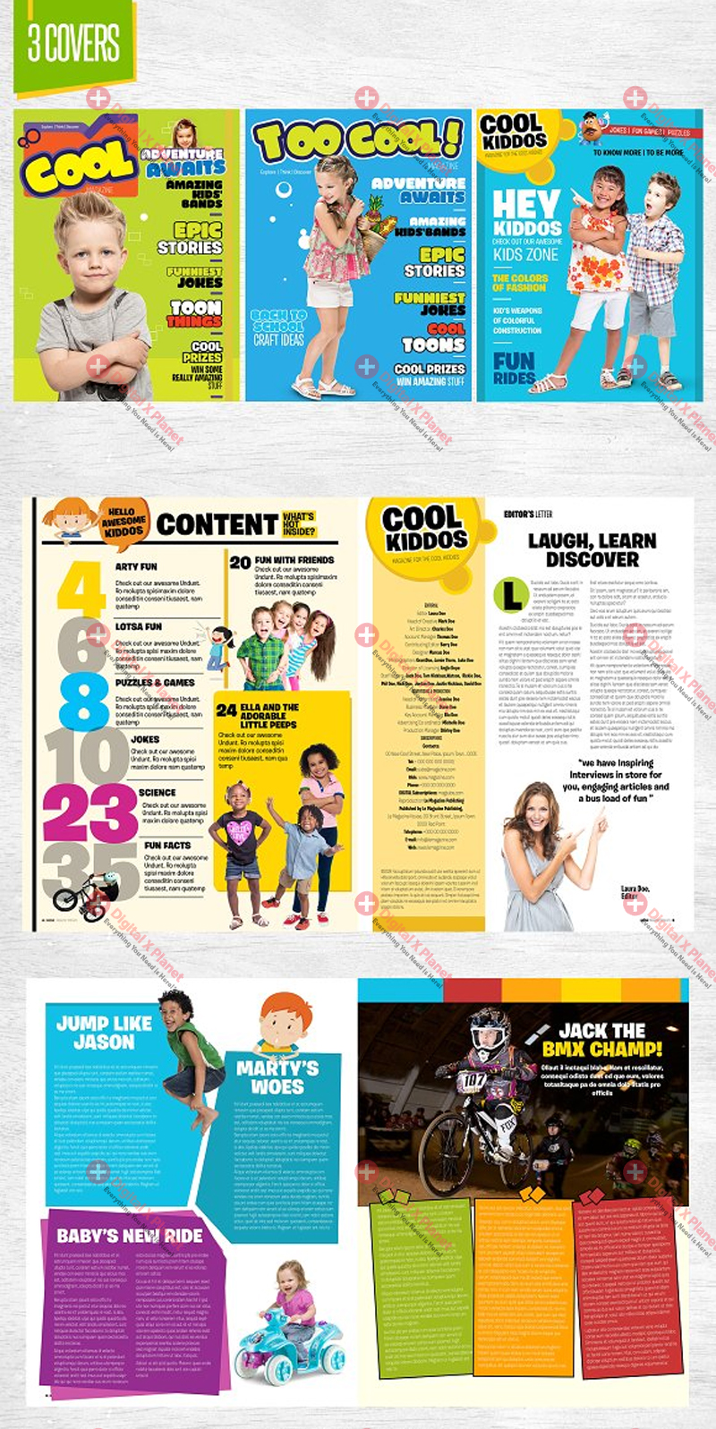 what is a magazine template for kids