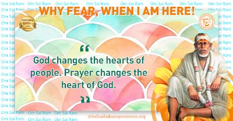 Prayer To God - Sai Baba Dwarkamai Painting Image