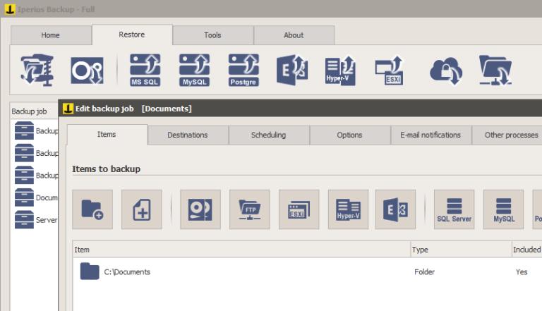 Iperius Backup Full v7.1.2 - Phần mềm sao lưu phục hồi dữ liệu cho máy tính