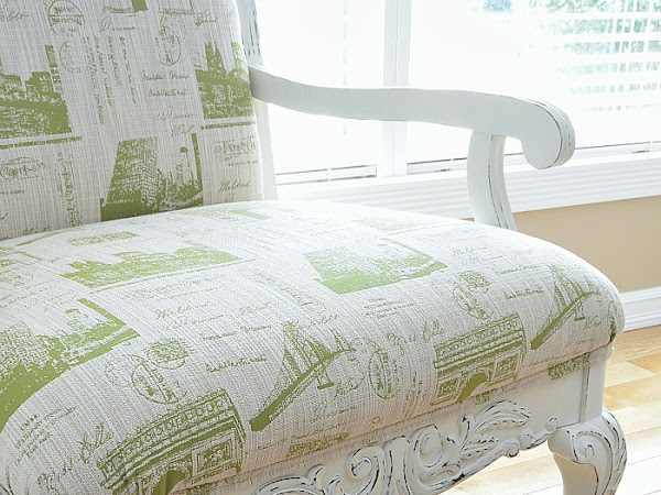 DIY Upholstered Armchairs With Parisian Style