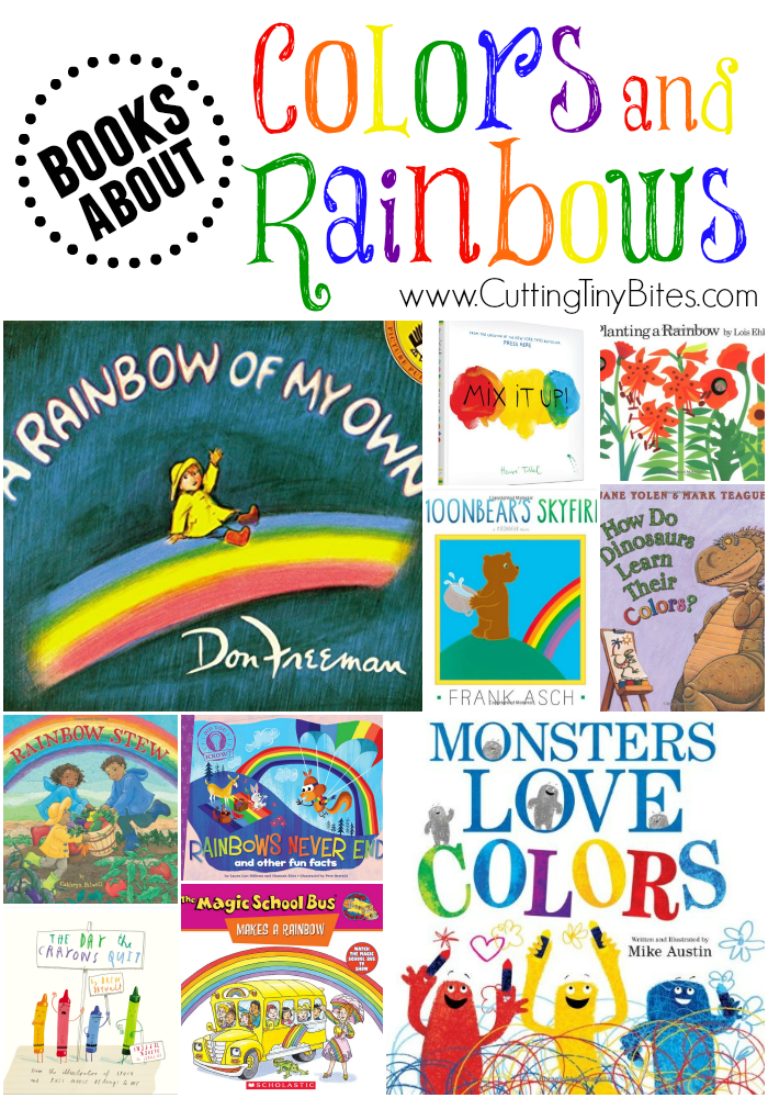 Picture book review list for a theme week about colors and rainbows. Great choices for toddlers, preschoolers, and elementary children. Brief reviews of each.