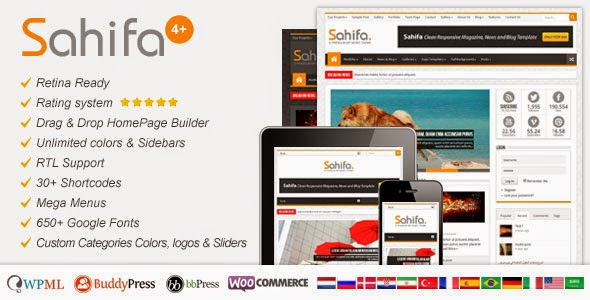 Sahifa v4.3.2 WordPress Theme