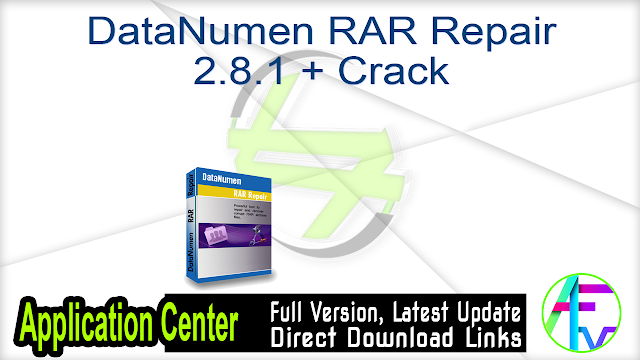 DataNumen RAR Repair 2.8.1 + Crack