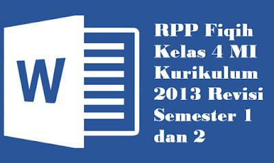 RPP Fikih Kelas 4 Kurikulum 2013