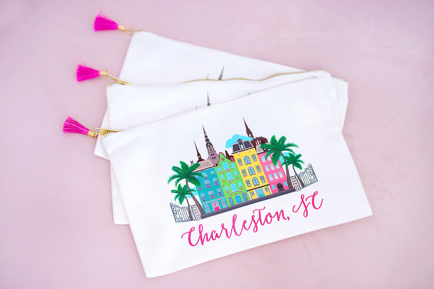 Charleston Cosmetic Bags For Bridesmaids - Chasing Cinderella