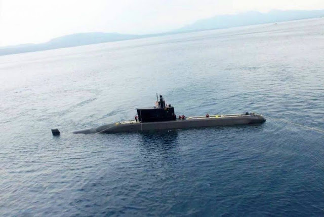 La Armada de Indonesia recibe el submarino Tipo 2091400  KRI Alugoro 405