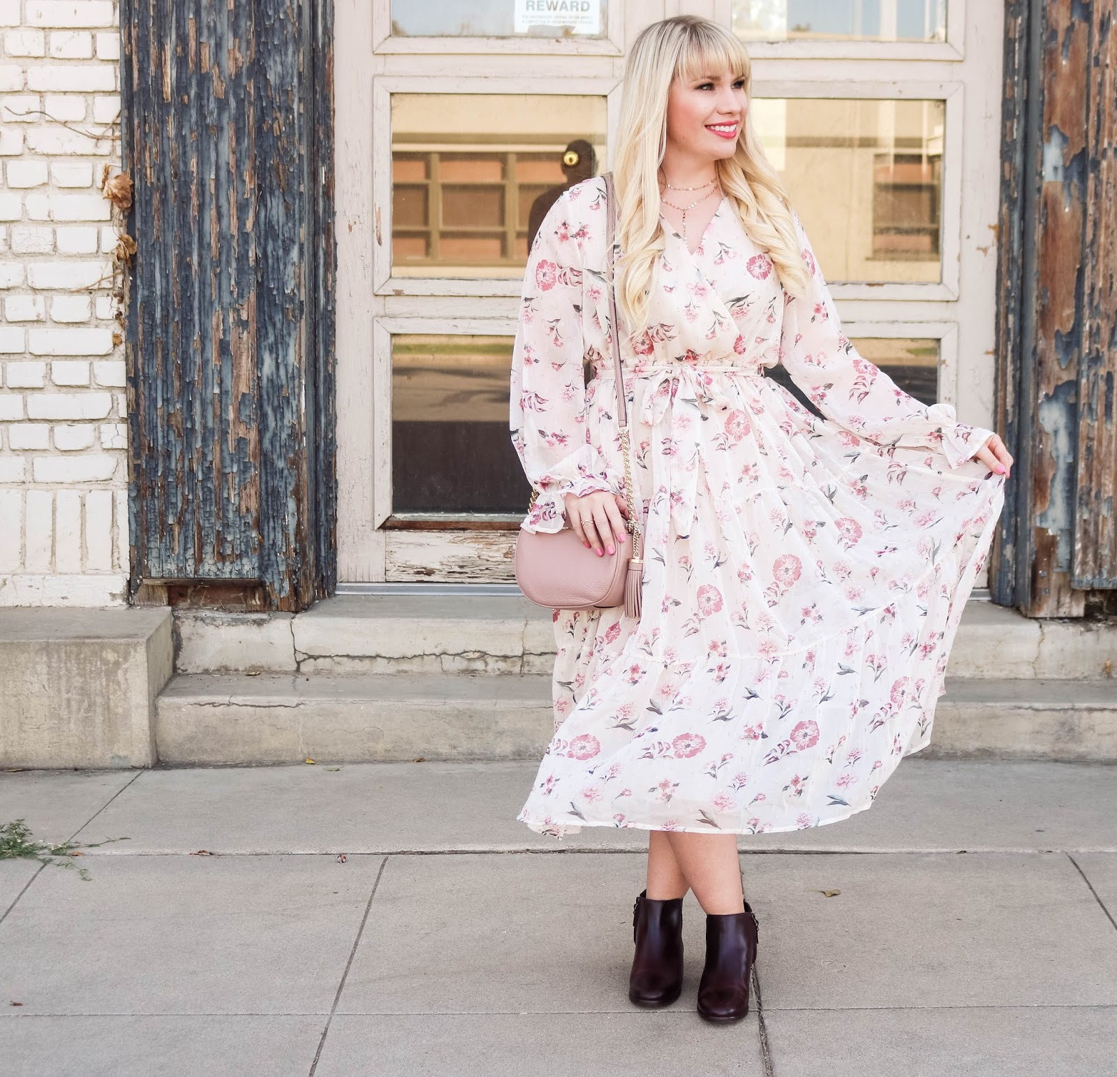 Floral Maxi Dress for Fall