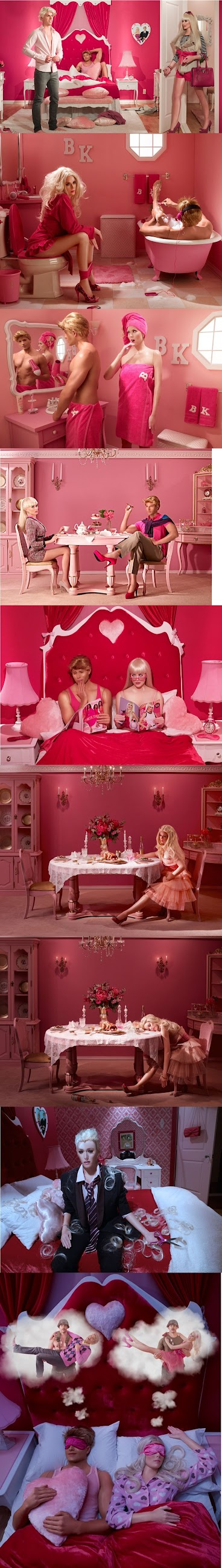 Funny Barbie and Ken Marriage Picture