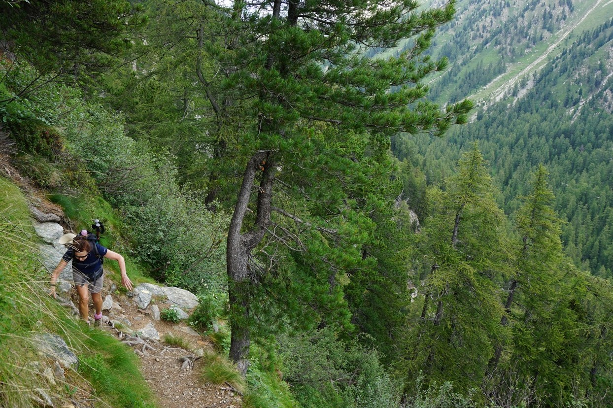 Steep trail to Lac des Adus