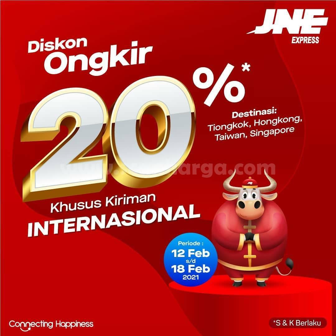 Promo JNE Express Diskon Ongkir 20%! Khusus Kiriman Internasional