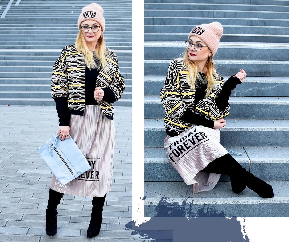 Overknees und Röcke im Winter. So kombiniere ich einen Rock im Winter.
