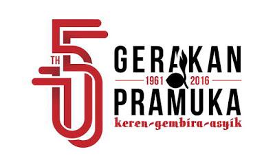 Logo Hari Pramuka Ke-55 Tahun 2016