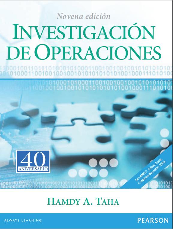 Portada del libro investigación de operaciones 9na