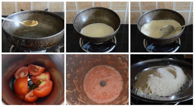Easy Tomato Rava Upma (NO ONION NO GARLIC)