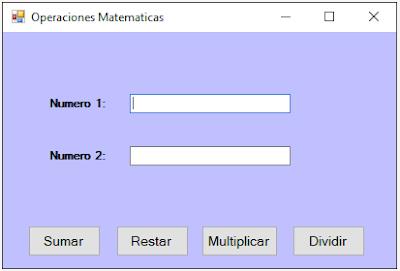 Suma, Resta, Multiplicación y División en C#