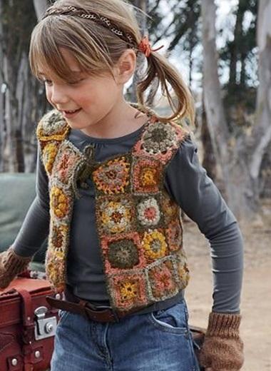 wzory kamizelek szydełkowych dla dzieci