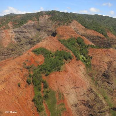 eroding canyons on Kauai