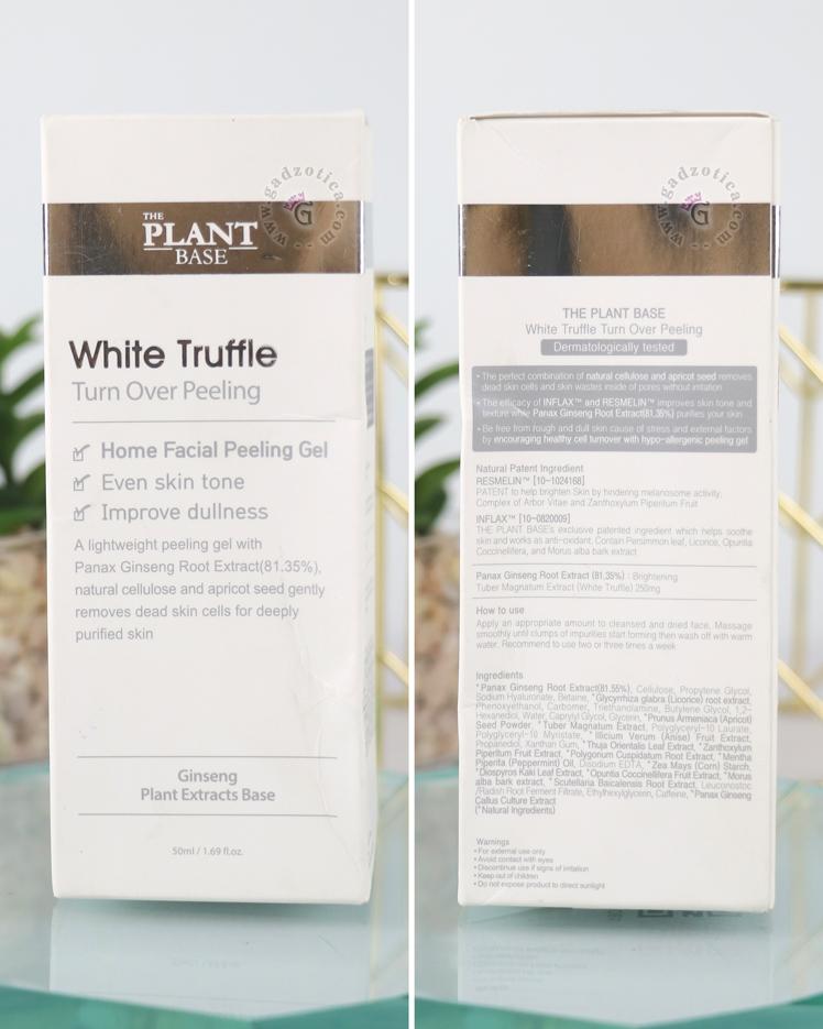 The Plant Base White Truffle Turn Over Peeling Ingredients
