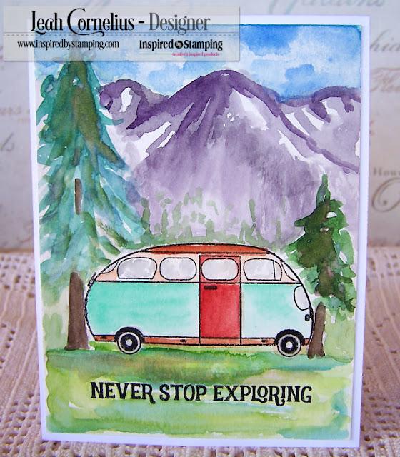Inspired By Stamping, Leah Cornelius, Van Life, stamping