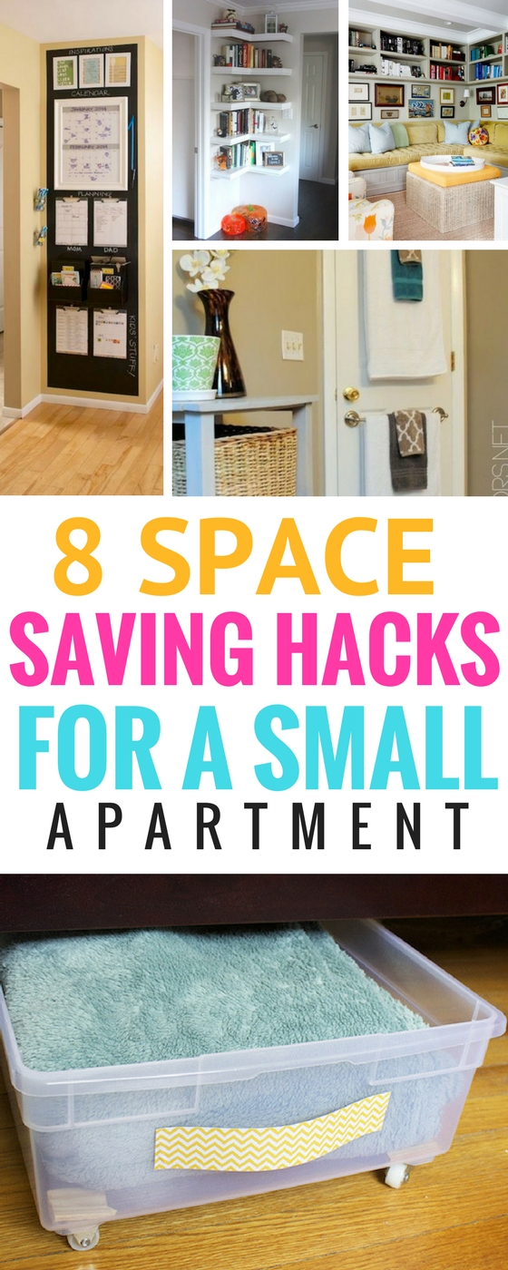 8 Space Saving Hacks For Your Small Apartment - Craftsonfire on Small Apartment Organization  id=25889